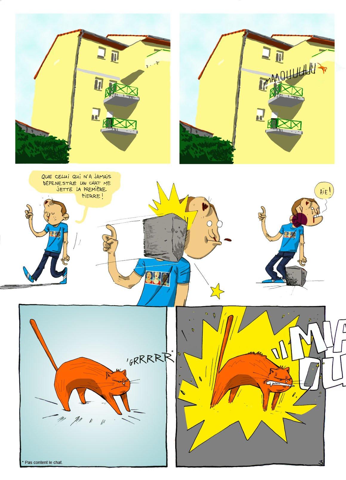 drôle de chat