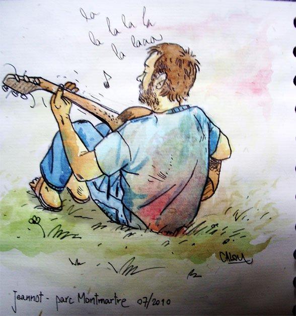 Jeannot fait de la guitare