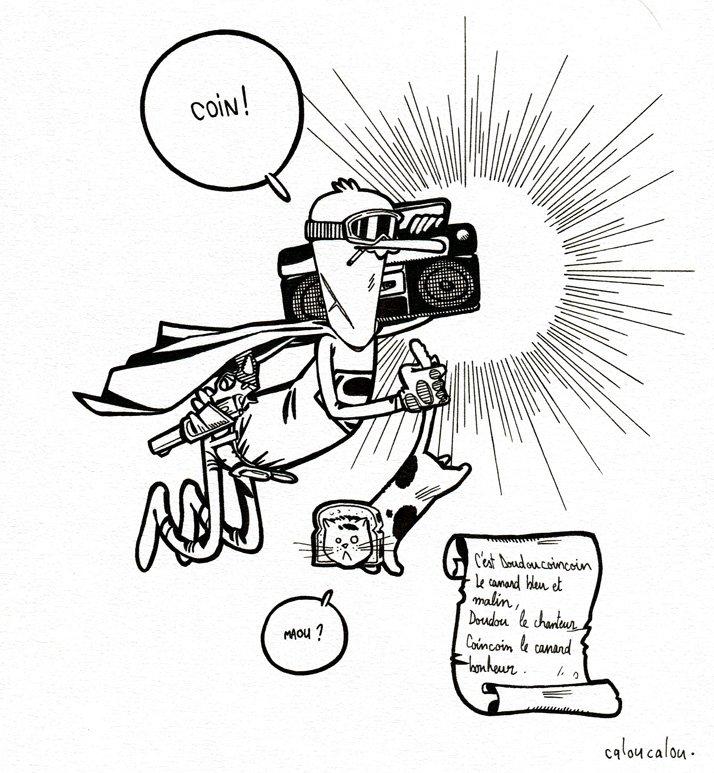 Super Canard dans Illustration Super-canard