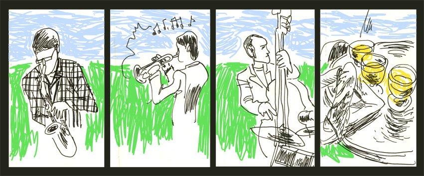 Les musiciens et le sandwich dans Carnets jazz