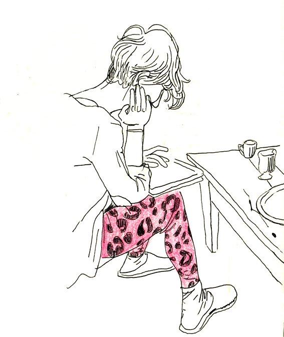Le legging leopard rose dans Carnets justine2