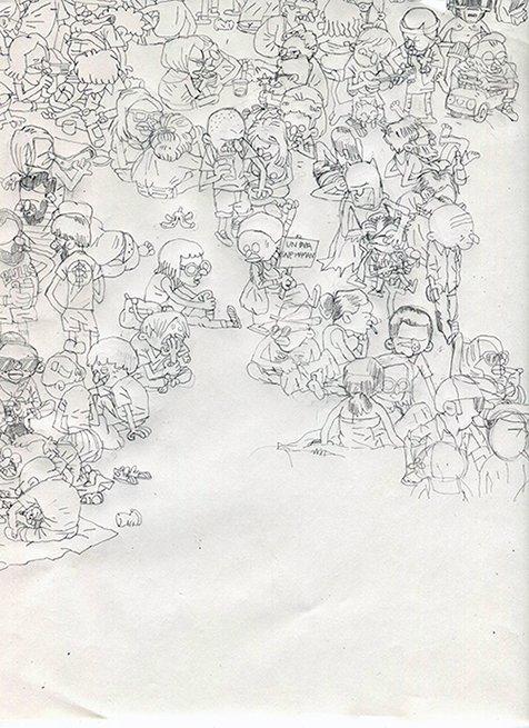 Foule_sketch